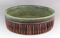 Dirty Dog Pottery: Brie Baker Green Textured