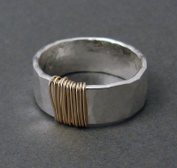 J & I Sterling Silver and 14k Gold Filled Ring - GWP1R