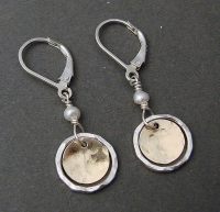 J & I Sterling Silver and 14k Gold Filled Earrings -  GWP47E