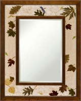 Hudson River Inlay - A New Leaf Turning Medium Border Mirror - HRI-744