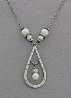 J & I - Sterling Silver Necklace with Freshwater Pearls - DPX224N