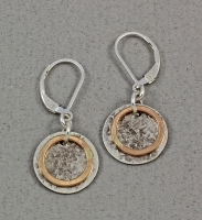 J & I - Sterling Silver & Gold Filled Earrings - GFX10E
