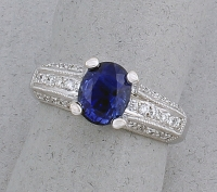 Michael Chang - Sapphire & Diamond Ring MC-07271-20