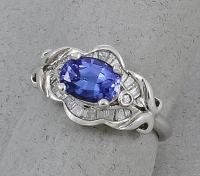 Michael Chang - Tanzanite & Diamond Ring MC-07271-25
