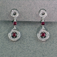 Michael Chang - Ruby & Diamond Post Earrings MC-12152-12