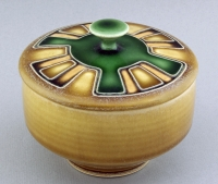Sarah & Thomas Gelsanliter - Craftsman Tan & Green Covered Jar