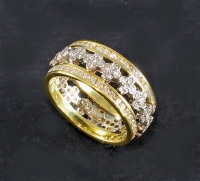 Samuel Jewels - 18k Gold & Diamond Eternity Band - 10185-13