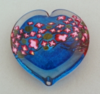 Shawn Messenger - Paperweight: Cherry Blossom Heart Weight