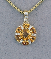 Stanton Color - Citrine & Diamond Pendant SC - 16147-01