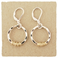 J & I Sterling Silver and 14k Gold Filled Earrings - TT7E