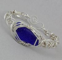Carolyn Roche Designs: One of a kind sea glass Bracelet  - FF