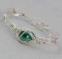 Carolyn Roche Designs: One of a kind small sea glass Bracelet  - SFFC