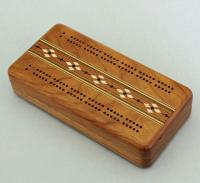 Heartwood Creations - Cribbage Board - Cherry Lift Top with Cards