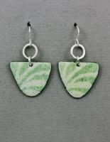 Joanna Craft - Earrings: Sterling Silver & Enamel - EE25