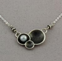 J & I - Sterling Silver Necklace with Pearl - DPX681N