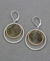 J & I - Sterling Silver & Gold Filled Earrings - GFX153E