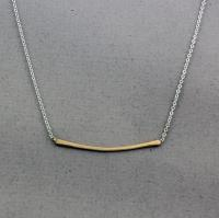 J & I - Sterling Silver & Gold Filled Necklace - GFX708N