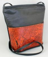 Leaf Leather:  LL14 Wide Bottom Crossbody