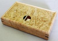 Mikutowski Woodworking Jewelry Box Bird's Eye Maple and Tamo with Medallion MM1