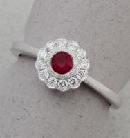 Stanton Color - Ruby & Diamond Ring SC-18255-01