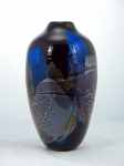 Glass Dancing - Black Dichro Shard Vase