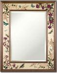 Hudson River Inlay - Butterfly Suite Border Mirror - HRI-1037