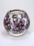 Daniel Lotton - Purple Asters Crystal Bowl
