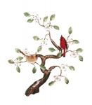 Bovano - W465 - Courting Cardinals in Dogwood Tree