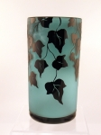 Correia Art Glass - Vase - Emerald & Black Ivy Vase