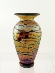 Lindsay Art Glass - Gold Arts and Crafts SN Vase