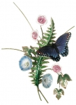 Bovano - B24 - Red Spotted Purple on Fern and Morning Glories