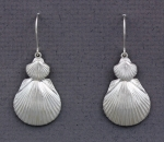 Betsy Frost - Scallop Dangle Earrings - Double - ESC-L&S