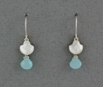 Betsy Frost - Scallop Earrings with Aqua Chalcedony - ESCS-AQ/C