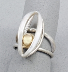 Betsy Frost - Caged Ball Ring - R47B