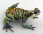 Scott Bisson - Frog Sculpture - Green Scaly