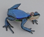 Scott Bisson - Frog Sculpture - Blue