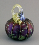 C&H Glassworks - Metallic Mauve Medium Pumpkin