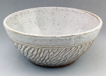 Dirty Dog Pottery: Bowl - Small White Speckled Textured