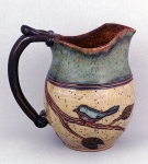 Dirty Dog Pottery: Pitcher - Bird