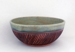 Dirty Dog Pottery: Bowl - Small Green Textured