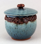 Dirty Dog Pottery: Jar - Blue Ocean with Lid