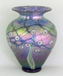 Lindsay Art Glass - Midnight Blossom SW Vase