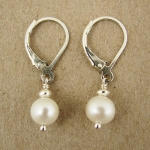 J & I Sterling Silver Earrings with Freshwater Pearls - DPX71E