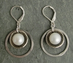J & I Sterling Silver Earrings with Freshwater Pearls - DPX94E