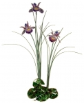 Bovano - F99P - Triple Purple Iris with Patina Grass