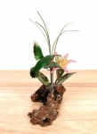 Bovano - FM29 - 3D Hummingbird and Flower Tabletop Sculpture