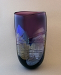 Glass Dancing - Purple Dichro Shard Vase