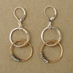 J & I Sterling Silver and 14k Gold Filled Earrings - GFX133E