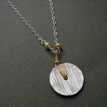 J & I Sterling Silver and 14k Gold Filled Necklace  -  GWP39N