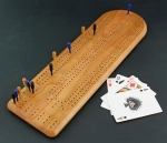Heartwood Creations - Cribbage Board - Cherry Wood 3-Track
